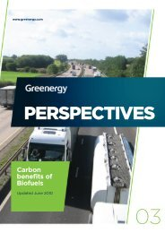 PERSPECTIVES Carbon benefits of Biofuels - Greenergy