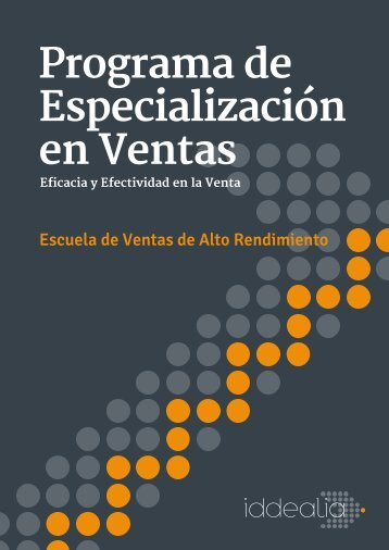Programa de Especialización en Ventas
