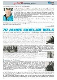 Chronik - ESKA SKIKLUB WELS
