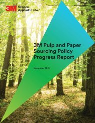 3M Pulp and Paper Sourcing Policy Progress Report