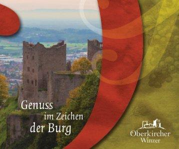 Imagebroschüre Oberkircher Winzer