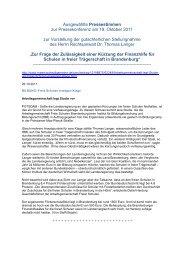 Gutachten - Institut für Bildungsforschung und Bildungsrecht (IfBB)