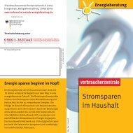 Stromsparen im Haushalt - Verbraucherzentrale Niedersachsen
