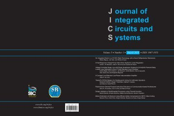 ournal of ntegrated ircuits and ystems - SBMicro