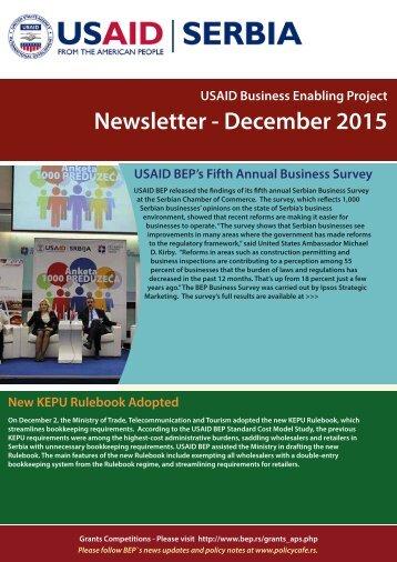 Newsletter - December 2015