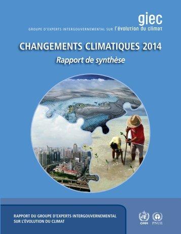 CHANGEMENTS CLIMATIQUES 2014