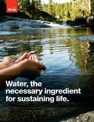 Water the necessary ingredient for sustaining life