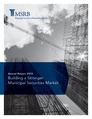 Building a Stronger Municipal Securities Market