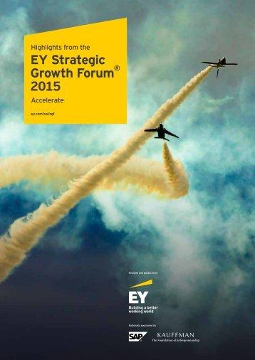 EY Strategic Growth Forum 2015