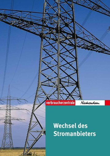 Wechsel des Stromanbieters - Verbraucherzentrale Niedersachsen