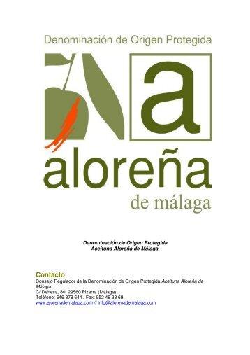 Dossier DOP aloreña de málaga_general