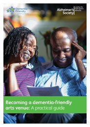 Becoming a dementia-friendly arts venue A practical guide