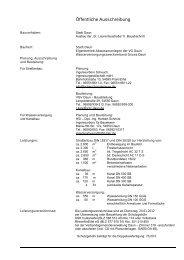 Öffentliche Ausschreibung - Verbandsgemeinde Daun