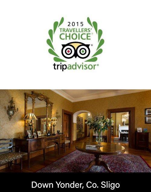 Down Yonder, TripAdvisor Travellers' Choice Awards