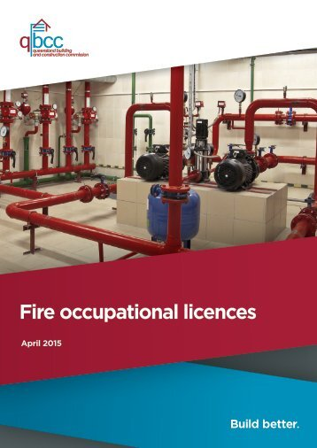 Fire occupational licences