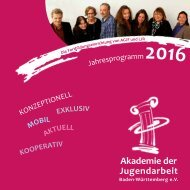 Seminarprogramm 2016