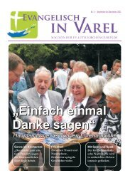 Gemeinde - Ev.-luth. Kirchengemeinde Varel