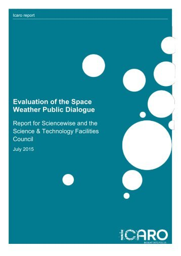 Evaluation of the Space Weather Public Dialogue
