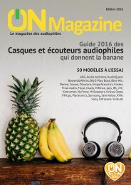 ON Magazine : Guide casques et écouteurs audiophiles 2016