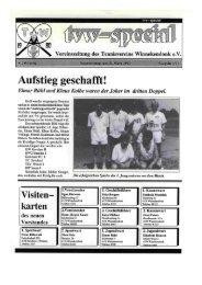 Vereinszeitung 1991 Ausgabe 1 - Tennisverein Winnekendonk