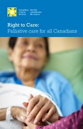 Right to Care Palliative care for all Canadians