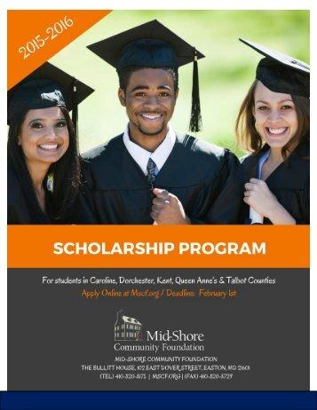 2015-2016 Scholarship Program