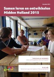 Samen leren en ontwikkelen Midden Holland 2015