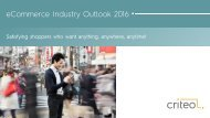 eCommerce Industry Outlook 2016