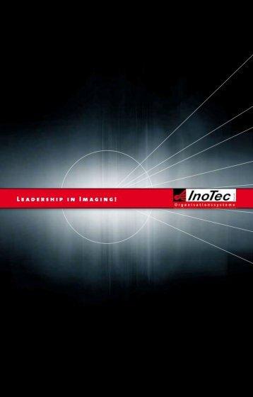 Informationsbroschüre über InoTec GmbH Organiosationssysteme