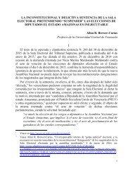 LA INCONSTITUCIONAL, DELICTIVA E INEJECUTABLE SENTENCIA DE LA SALA ELECTORAL  4-1-2016