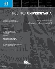 POLÍTICA UNIVERSITARIA