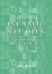 CENTRE FOR ISLAMIC STUDIES AND CIVILISATION