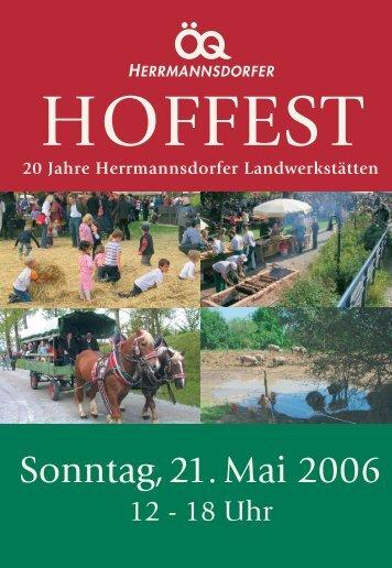 Feiern Sie mit uns 20 Jahre Herrmannsdorfer Landwerkstätten