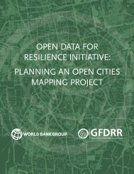 OPEN DATA FOR RESILIENCE INITIATIVE PLANNING AN OPEN CITIES MAPPING PROJECT