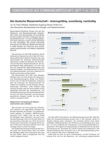 SONDERDRUCK AUS KOMMUNALWIRTSCHAFT HEFT 7–8 / 2015 Lebensmittel
