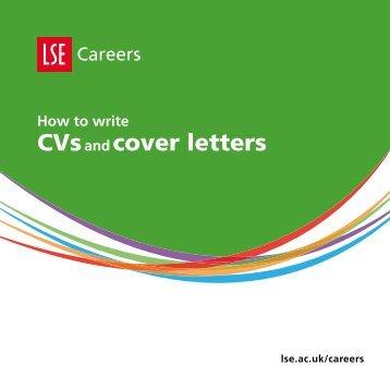 CVs cover letters