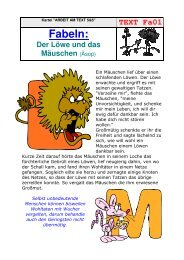 TEXT Fa01 Fabeln - Gemeindeschulen