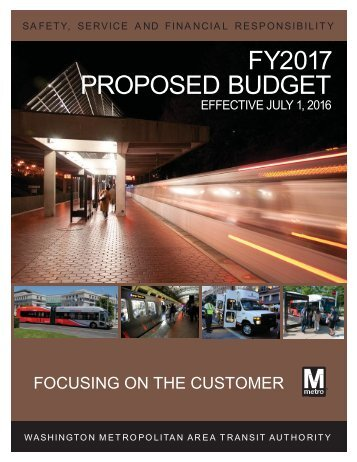 FY2017 PROPOSED BUDGET