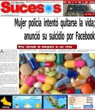 Mujer policía intentó quitarse la vida anunció su suicidio por Facebook