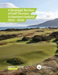 A Strategic Review of Golf Tourism in Northern Ireland 2015 - 2020