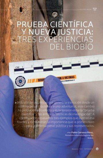 Prueba científica y nueva justicia tres experiencias del Biobío