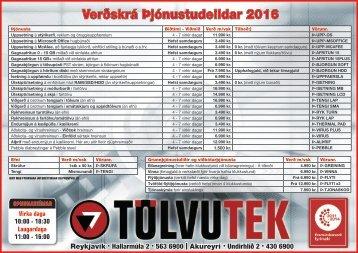 Verðskrá þjónustudeildar 2016_v5