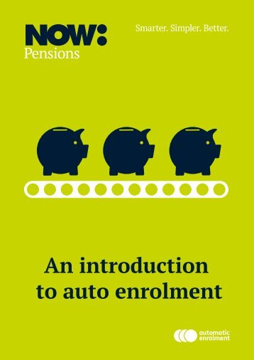 An introduction to auto enrolment