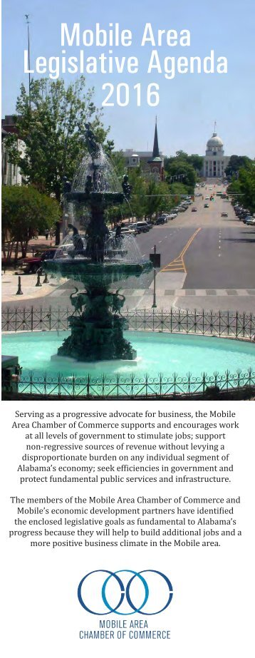 Mobile Area Legislative Agenda 2016