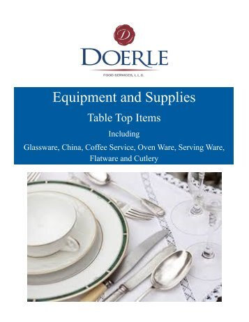 Doerle Foodservice Equipment and Supplies - Table Top