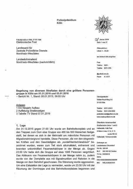 Polizeibericht Köln