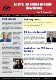 Australian Embassy Rome Newsletter