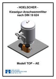 Kieselgur-Anschwemmfilter Modell TOP - AE - Hoelscher ...