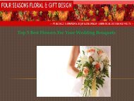 Top 5 Best Flowers For Your Wedding Bouquets