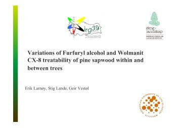 Variations of Furfuryl alcohol and Wolmanit CX-8 treatability of pine ...